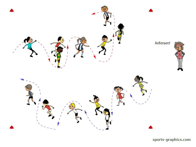 Laufspiel für den Sportunterricht. Move like Marcel Hirscher.