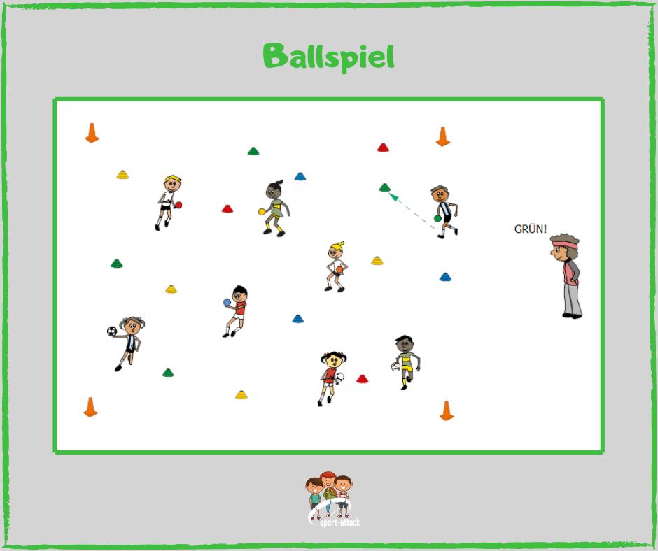 Spiele mit Abstand Ballspiel
