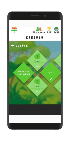 Gamification Welt der Kängurus