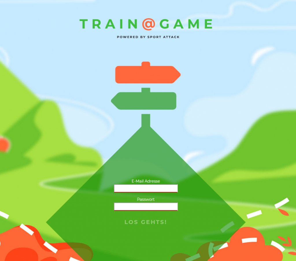 Login train@game Gamification